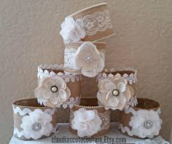 Burlap Mason Jar Rustic Wedding Country Centerpiece Decor