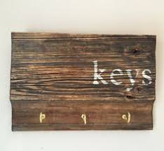 Key Holder Rustic Wood Sign For Wall Hook