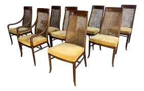 Mid-Century High Back Cane Dining Chairs By Drexel Indoor Chairs Slope Leather Ding Chair Room Midcentury Cane Back Set Of 6 Modern High Mid Century Walnut Accent Wingback Curved Arm Nailhead W Wood Leg Project Reveal Oklahoma City High End Upholstered Ding Chairs Ameranhydraulicsco 1950s Metalcraft 2 Available Listing Per 1 Chair Floral Vinyl Covered With Brown Steel Frames Design Institute America A Pair Midcentury Fniture Basix Kitchen Best For Home