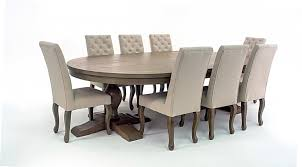 Upholstered Mahogany Dining Set - 8 Seats - Home Furniture - Out & Out