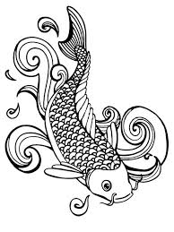 Koi Fish Coloring Pages Adult 8