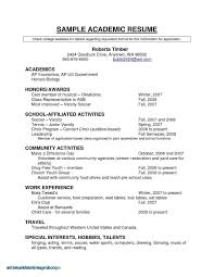 Resume Example For College Student Save Canadian Samples Valid Unique Highschool Students