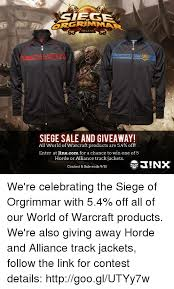 http siege siege sale and giveaway all of warcraft products are 54