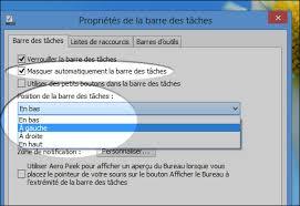 bureau windows 7 sur windows 8 windows 8 personnaliser et optimiser la barre des tâches