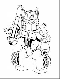 Awesome Lego Coloring Page Transformer Optimus Prime With And Pages Bumblebee