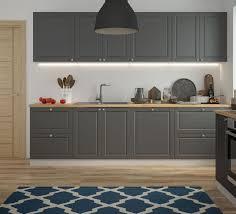 küchenzeile küchenblock küche 280cm grau ral 7022 umbragrau matt lackiert landhaus