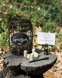 Wine Barrel Chalkboard Cork Cage Guestbook Idea For Vineyard Wedding