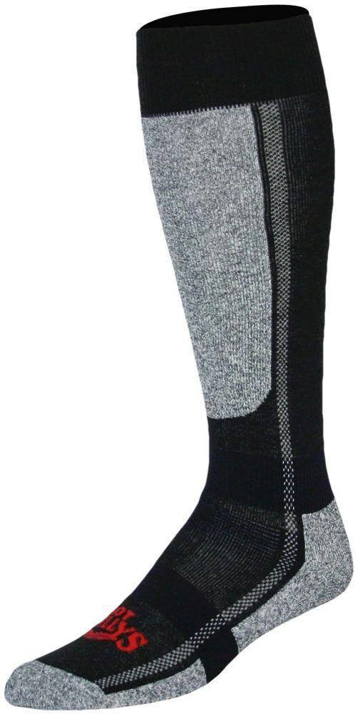 Hot Chillys Men ' S Classic Mid Volume Sock - Black / Heather
