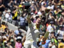 Australias David Warner Celebrates Scoring A Century Against England During Their Ashes Cricket Test Match In
