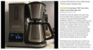 Scaa Certified Coffee Makers Cuisinart CPO 850