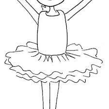 Cute Ballerina Girl Coloring Page