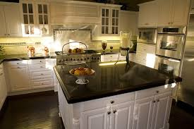white kitchen cabinets with granite countertops granite
