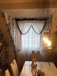 versace muster gardinen für 2 fenster
