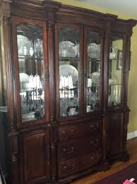 Dining Room China Cabinet Sets With Beautiful Cherry Set Table