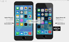 pletely redesigned iPhone 6 pared to iPhone 5s Galaxy S5 in