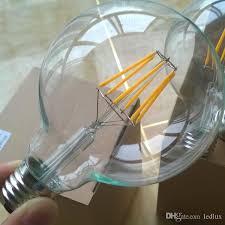 4w 6w 8w 10w g95 dimmable led filament bulb light edison e27 e26