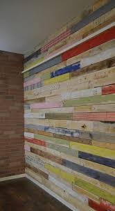 Diy Shipping Pallet Interior Walls Wood Wall Paneling