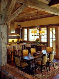 warm cozy rustic dining room designs for your cabin