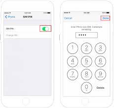 Enable and Change SIM PIN Lock in iPhone iPad