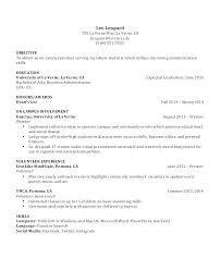 Resume Education Examples For Highschool Students As Well College Template Word Undergraduate Free Of
