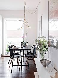 Modern Brass Chandelier In The Dining Room Image Via Stadshem