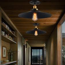 Ceiling Lights Wrought Iron Flush Mount Light Rustic Lighting Hallway With Bookshelf