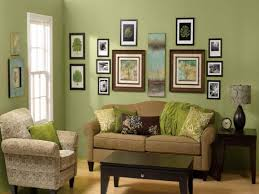 Living RoomAstounding Green Paint Walls Room With Black Wooden Coffee Table Also Frame