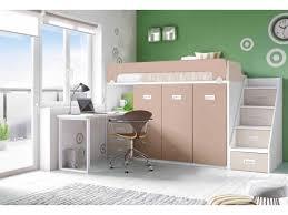 lit enfant bureau lit mezzanine avec bureau personnalisable f260 glicerio lit