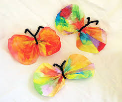 Easy Kids Crafts Coffee Filter Butterfly Craft