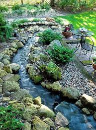 Backyard Landscaping Ideas With Small River And Rocks ... Outdoor Living Cute Rock Garden Design Idea Creative Best 20 River Landscaping Ideas On Pinterest With Lava Fleagorcom Natural Landscape On A Sloped And Wooded Backyard Backyards Small Under Front Window Yard Plans For Of 25 Rock Landscaping Ideas Diy Using Stones Interior 41 Stunning Pictures Startling Gardens
