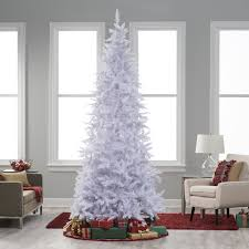 Flocked Artificial Christmas Trees Sale by Winter Park Slim Pre Lit Christmas Tree Hayneedle