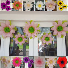 Image Is Loading Boho Pompom Honeycomb Giant Flower Wall Decorations Tissue
