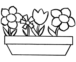 Download Coloring Pages Flowers Page Flower Pot Futpal