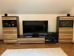wohnwand schrank regal tv lowboard bank wohnzimmer möbel porta