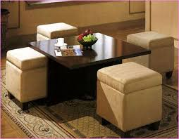 Round Coffee Table With Stools Underneath by Great Coffee Table With Seating Not Any Additional Chairs In