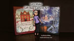 I Have Been Asked No Less That A Dozen Times How Made Some Of My Christmas Canvass And Each Time Just Tell Them They Are Dollar Tree Gift Bags