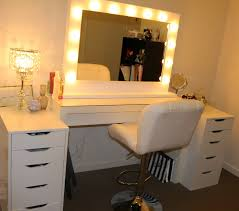 Single Sink Vanity With Makeup Table by Bathroom Makeup Vanity Table With Lighted Mirror With Lighted