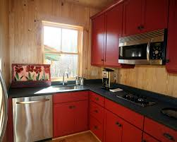 Kitchen Cabinet Designs For Small Kitchens Red