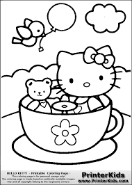Tea Cup Coloring Page Pages