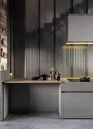 Home Designs: Corrugated Glass Kitchen - Industrial-Inspired ... Cool Modern Interior Cafe For Home Design Styles Ideas Creative Melbourne Architects Upcycle 1960s Warehouse Into Stunning Energy Apartment Warehouse Apartments College Station Best Emejing Decorating Clubmona Delightful The Animal Print Accent Office 23 Tremendous Commercial In Marvelous Turned Into House Gallery Idea Home Loft Artists Converted Is Gorgeously Livedin Curbed Fniture Used Style Fancy At