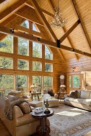 Log Home Interior Decorating Ideas 47 Extremely Cozy And Rustic Cabin Style Living Rooms Log