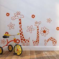 wholesale removable giraffes wall stickers room wall decor