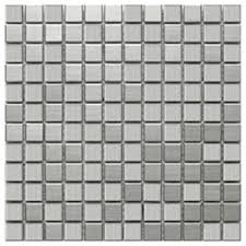 stainless steel mosaic tile chip size 1 x1 modern mosaic