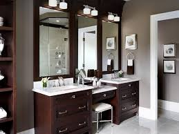 Double Bathroom Vanities With Dressing Table by Double Bathroom Vanity With Makeup Area Best Bathroom Decoration