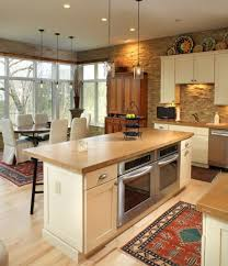 Kitchen Island With An Oven And A Grill