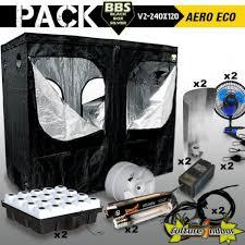 kit complet chambre de culture pas cher pack chambre de culture complèteblack box v2 240 x 120 aero eco