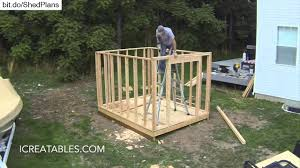 Diy 4x8 Storage Shed by Timelapse Of How To Build A Shed Watch Every Step In The Shed