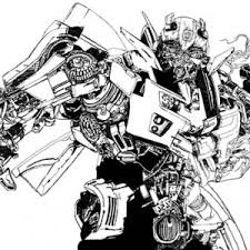 Bumblebee Car Transform To Robot Coloring Pages