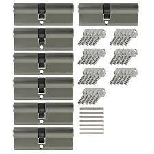 2x profile cylinder 65mm 30 35 10x key door cylinder lock