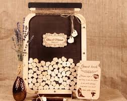 Wedding Guest Book Alternative Mason Jar Wooden Guestbook Ideas Custom